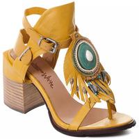 Čevlji  Ženske Salonarji Rebecca White T0509  Rebecca White  D??msk?? sand??ly na vysok??m podpatku z okrov??