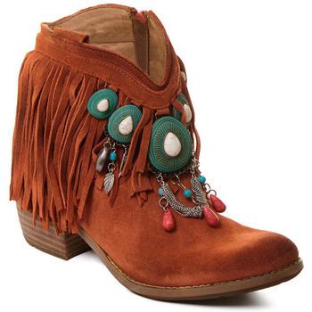 Čevlji  Ženske Gležnjarji Rebecca White T0601B  Rebecca White  D??msk?? ko?en?? kotn??kov?? boty s kor??lovou k