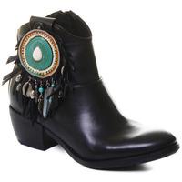 Čevlji  Ženske Gležnjarji Rebecca White T0605  Rebecca White  D??msk?? ?ern?? ko?en?? kotn??kov?? boty s bloko