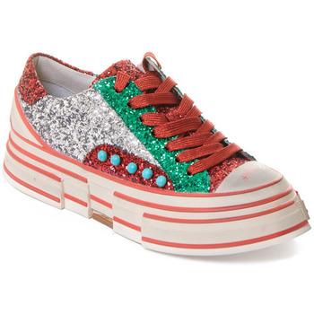 Čevlji  Ženske Modne superge Rebecca White T2208  Rebecca White  D??msk?? st???brn??/?erven??/zelen?? t?pytiv?? t