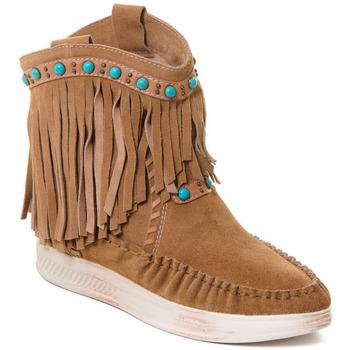 Čevlji  Ženske Gležnjarji Rebecca White T6016 Kostanjeva