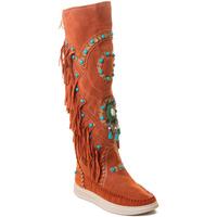 Čevlji  Ženske Škornji Rebecca White T6012 Rdeča