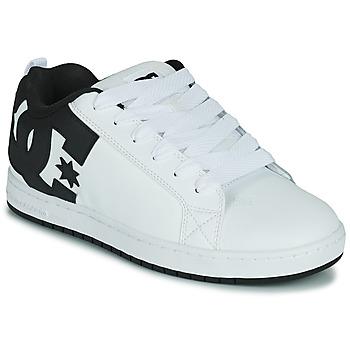 Čevlji  Moški Skate čevlji DC Shoes COURT GRAFFIK Bela / Črna