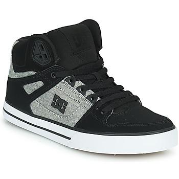 Čevlji  Moški Visoke superge DC Shoes PURE HIGH-TOP WC Črna / Siva
