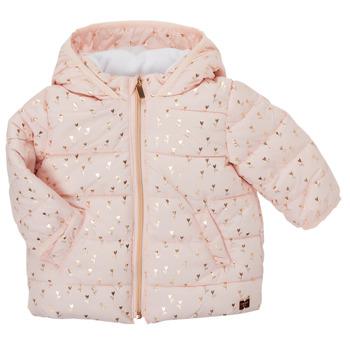 Oblačila Deklice Puhovke Carrément Beau ACAJOU Rožnata