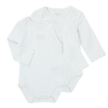 Oblačila Deklice Pižame & Spalne srajce Carrément Beau ANTHRACITE Bela