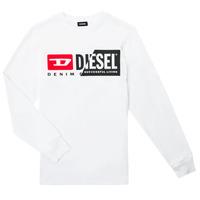 Oblačila Otroci Majice z dolgimi rokavi Diesel TDIEGOCUTY ML Bela