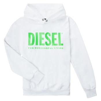 Oblačila Otroci Puloverji Diesel SDIVISION LOGOX OVER Bela