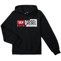 Oblačila Otroci Puloverji Diesel SGIRKHOODCUTYX OVER Črna