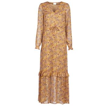 Oblačila Ženske Dolge obleke Vila VIFALIA Cognac