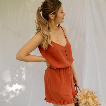 Oblačila Ženske Kombinezoni Céleste NEROLI Terracotta