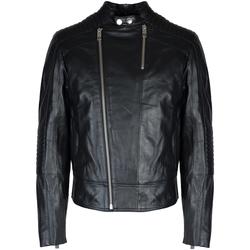 Oblačila Moški Usnjene jakne & Sintetične jakne Les Hommes  Črna
