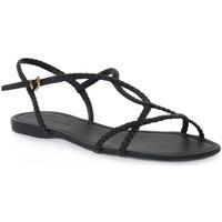 Čevlji  Ženske Sandali & Odprti čevlji Miss Unique UNIQUE   PRETO CALF Nero