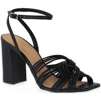 Čevlji  Ženske Sandali & Odprti čevlji Miss Unique UNIQUE   PRETO SMOOTHIE Nero
