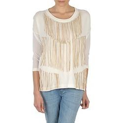 Oblačila Ženske Majice z dolgimi rokavi Eleven Paris ANGIE Bela