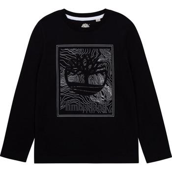 Oblačila Dečki Majice z dolgimi rokavi Timberland BAGIRI Črna