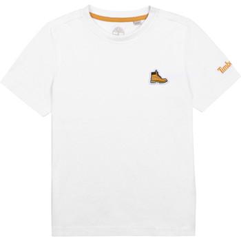 Oblačila Dečki Majice s kratkimi rokavi Timberland BANIOS Bela