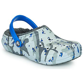 Čevlji  Dečki Cokli Crocs CLASSIC LINED CAMO CG K Siva / Modra