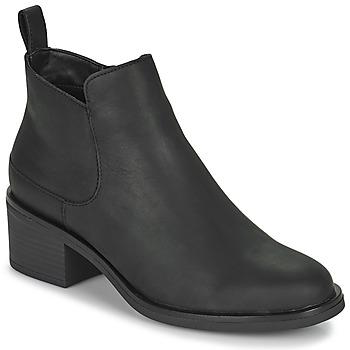 Čevlji  Ženske Gležnjarji Clarks MEMI ZIP Črna