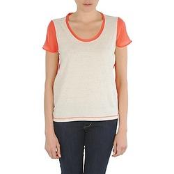 Oblačila Ženske Majice s kratkimi rokavi Eleven Paris EDMEE Bež / Oranžna