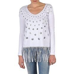 Oblačila Ženske Majice z dolgimi rokavi Manoush TUNIQUE LIANE Bela