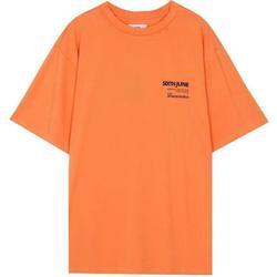 Oblačila Moški Majice s kratkimi rokavi Sixth June T-shirt  barcode orange