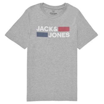 Oblačila Dečki Majice s kratkimi rokavi Jack & Jones JJECORP LOGO TEE SS Siva