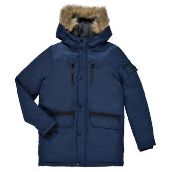 Oblačila Dečki Parke Jack & Jones JJEGLOBE PARKA Modra