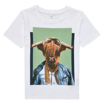 Oblačila Dečki Majice s kratkimi rokavi Name it NMMKYLAN SS TOP Bela