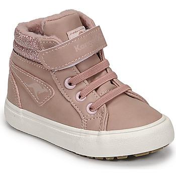 Čevlji  Deklice Visoke superge Kangaroos KAVU III Rožnata