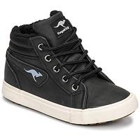 Čevlji  Dečki Visoke superge Kangaroos KAVU I Črna