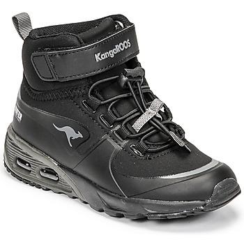 Čevlji  Dečki Visoke superge Kangaroos KX-HYDRO Črna