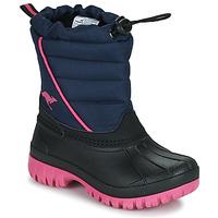 Čevlji  Deklice Škornji za sneg Kangaroos K-BEN Modra / Rožnata