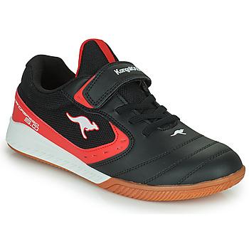 Čevlji  Otroci Nizke superge Kangaroos K5-COURT EV Črna / Rdeča