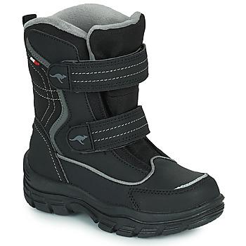 Čevlji  Otroci Škornji za sneg Kangaroos K-LENO V RTX Črna