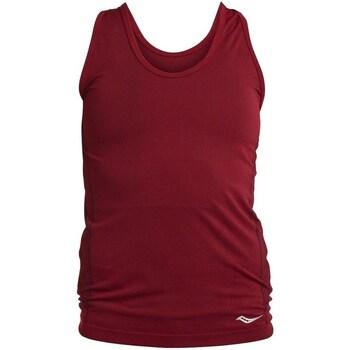 Oblačila Ženske Majice brez rokavov Saucony SAW800099 Bordo rdeča