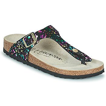 Čevlji  Deklice Japonke Birkenstock GIZEH Črna / Večbarvna