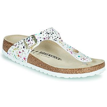 Čevlji  Deklice Japonke Birkenstock GIZEH Bela / Večbarvna