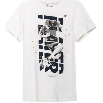 Oblačila Moški Majice s kratkimi rokavi 4F TSM011 Bela