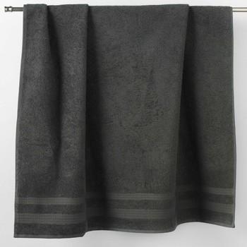 Dom Kopalniške brisače in rokavice za umivanje Douceur d intérieur EXCELLENCE Antracitová