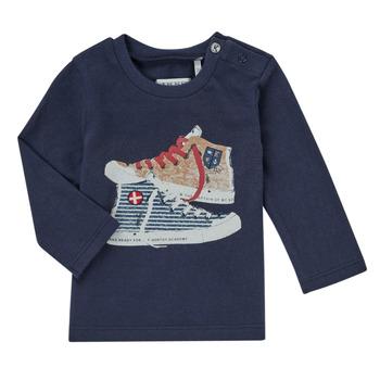 Oblačila Dečki Majice z dolgimi rokavi Ikks AURORE Modra
