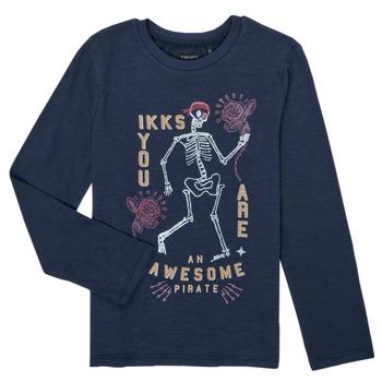 Oblačila Dečki Majice z dolgimi rokavi Ikks PRUNE Modra