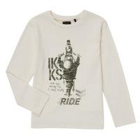 Oblačila Dečki Majice z dolgimi rokavi Ikks CERISE Bela