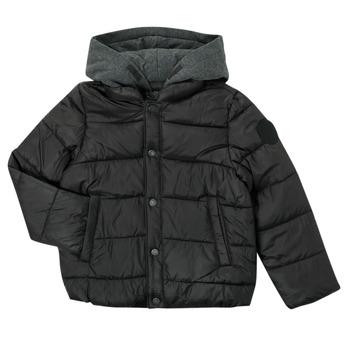 Oblačila Dečki Puhovke Ikks CORAIL Črna