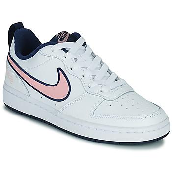 Čevlji  Otroci Nizke superge Nike COURT BOROUGH LOW 2 SE1 (GS) Bela / Rožnata