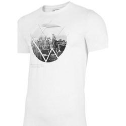 Oblačila Moški Majice s kratkimi rokavi 4F TSM023 Bela
