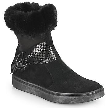 Čevlji  Deklice Mestni škornji    GBB EVELINA Črna