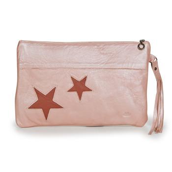 Torbice Deklice Večerne torbice Easy Peasy POUCHY ETOILE Rožnata