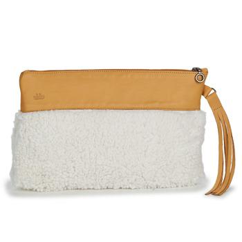 Torbice Ženske Večerne torbice Easy Peasy POUCHY FOURRURE Kostanjeva
