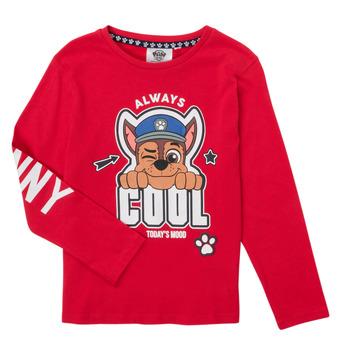 Oblačila Dečki Majice z dolgimi rokavi TEAM HEROES  TEE PAW PATROL Rdeča